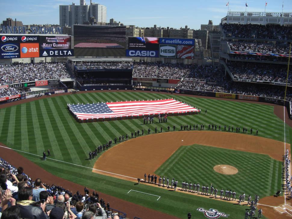 National Anthem at Yankee Stadium on Opening Day