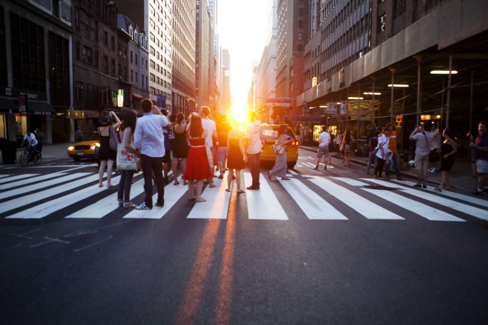 Best time for Manhattanhenge in New York
