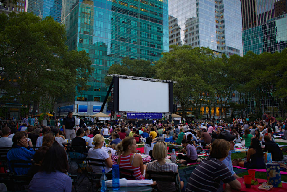 Bryant Park, New York. HBO Summer Film Festival.