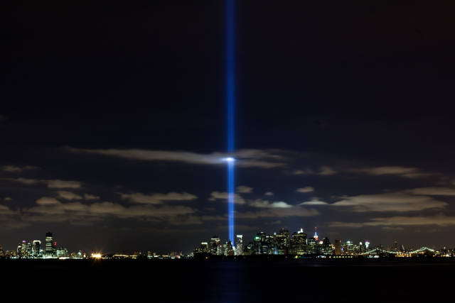 Best time for Tribute in Light in New York