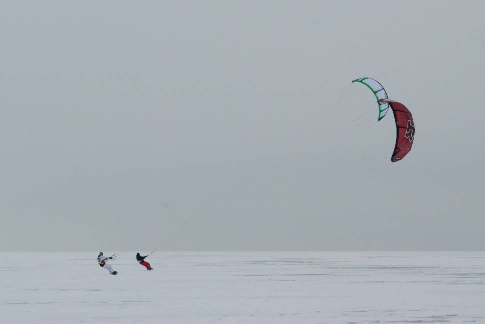 Best time to see Snow Kiting in Norway