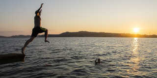 Swimming in the Midnight Sun