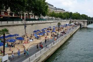 Beaches on the Seine or Paris Plages