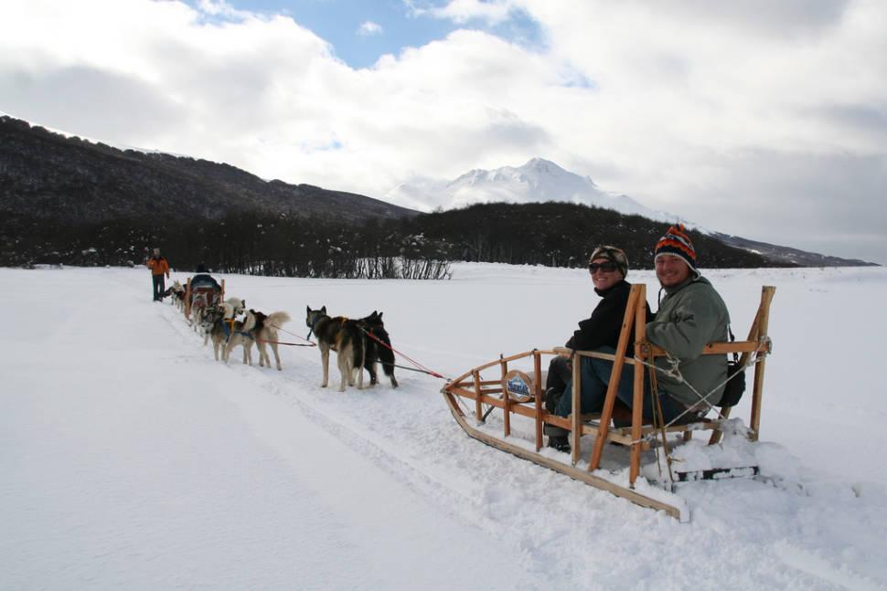 Husky sledge in Ushuaia