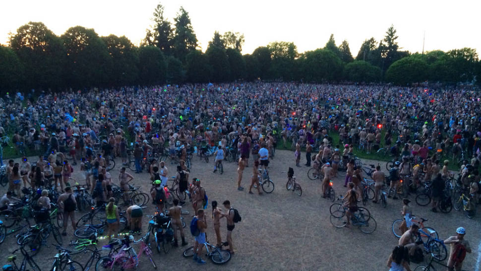 World Naked Bike Ride Portland