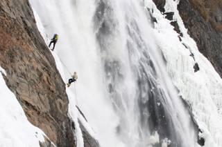 Climbing the Frozen Montmorency Falls