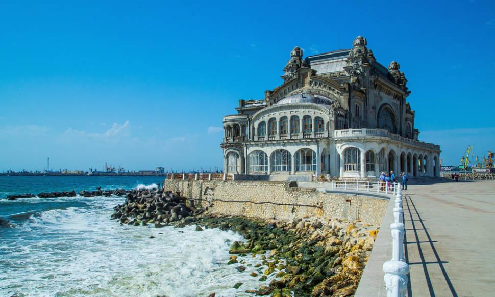 The semi-derelict casino on the Black Sea promenade of Constanta