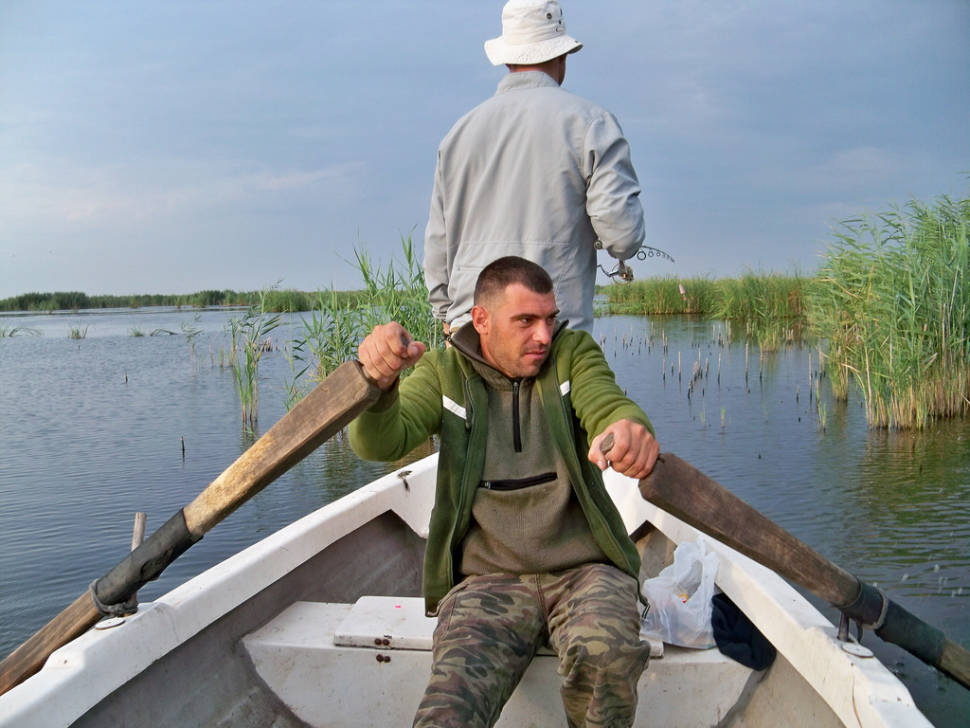 Going for fishing on the Danube Delta
