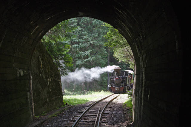 Before entering the third of three tunnels along the Vaser valley railway, near Botizu loading site