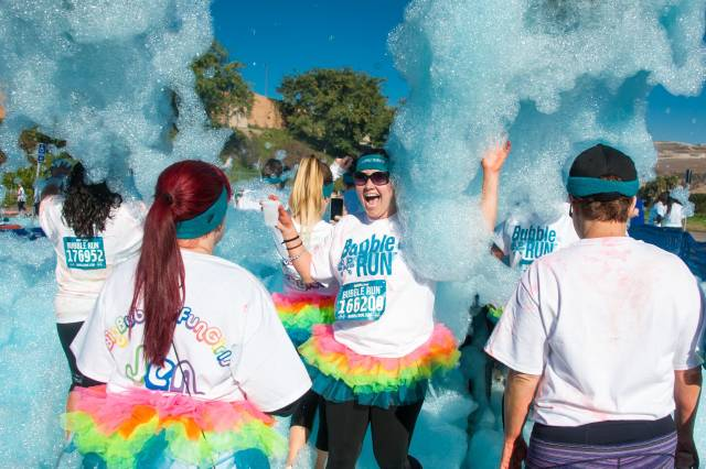 Best time to see Bubble Run in San Diego