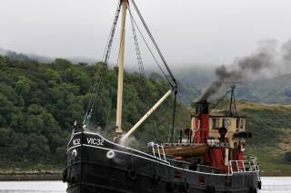 Cruising on a Vintage Steam Boat