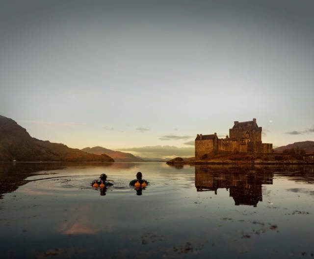 Scuba diving at Eilean Donan Castle
