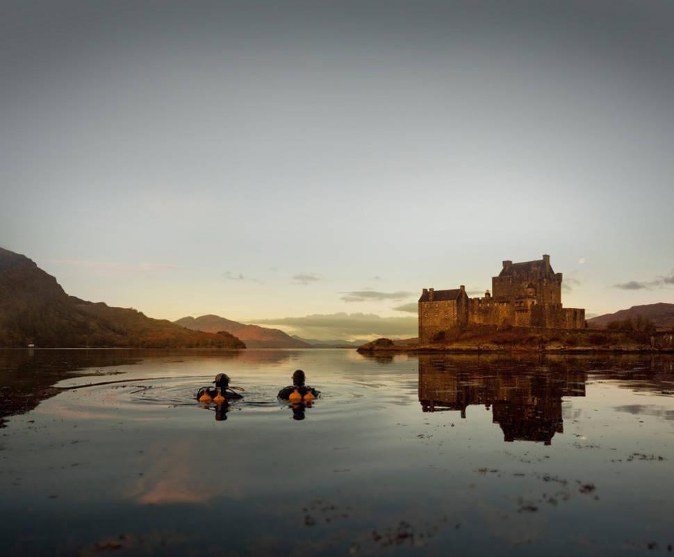 Scuba diving at Eilean Donan Castle