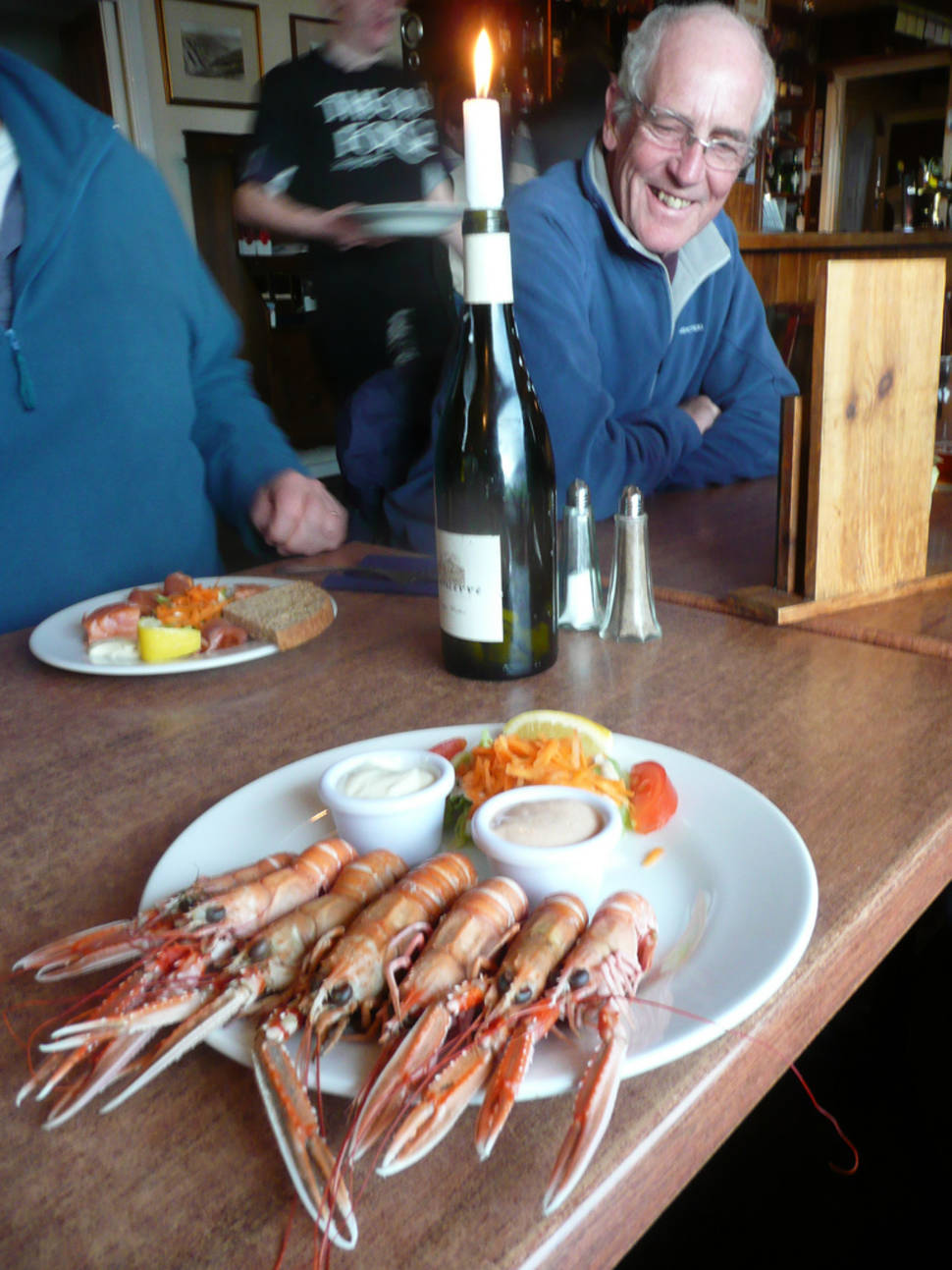 Famous a plate of langoustines