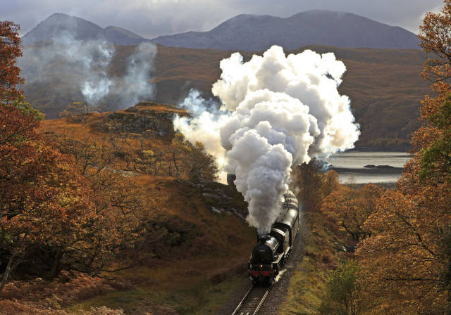 Best time to see The Jacobite Steam Train in Scotland