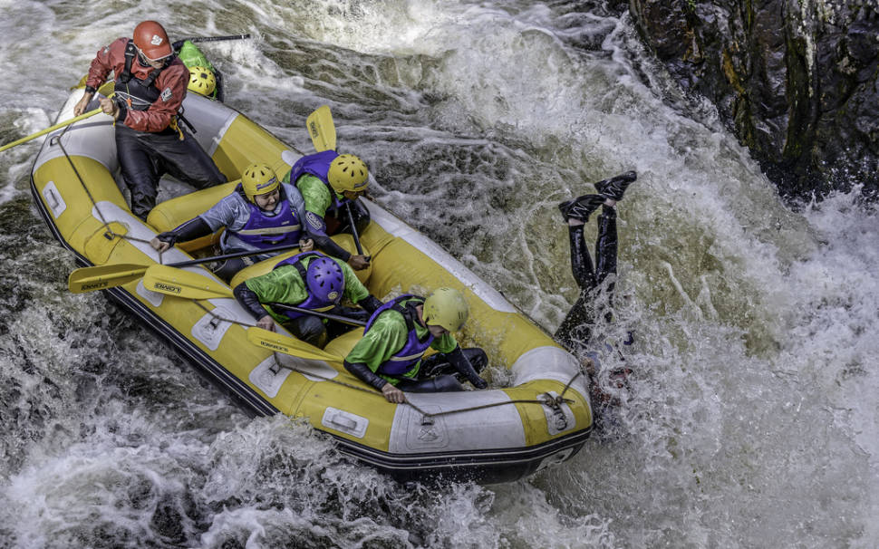 White water rafting on the RIver Tummel near Aberfeldy