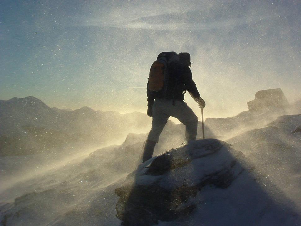 Winter hiking on the Crianlarich Hills