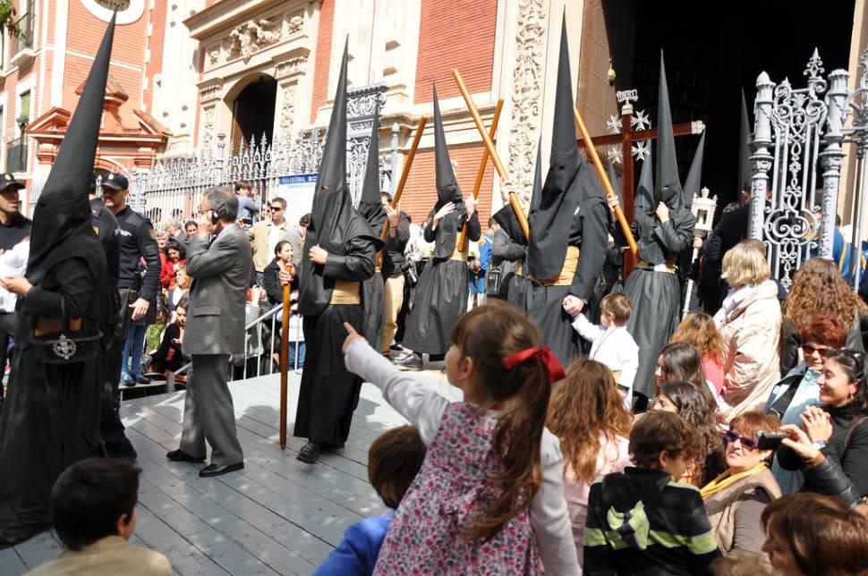 Penitents during the Semana Santa in Seville