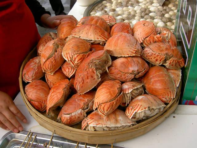 Crab stall during the Fair