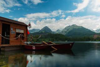 Boating on Štrbské Pleso
