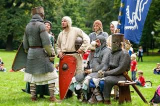 Medieval Knights Show at the Devín Castle