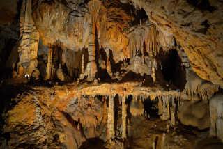Boating in Domica Cave