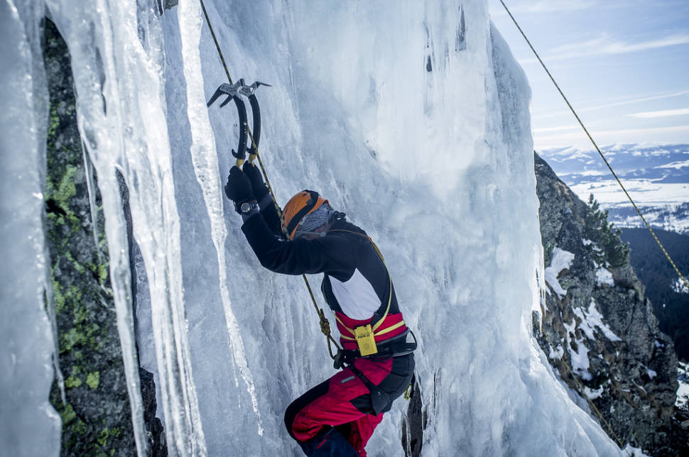 Ice climbing in the Tatra Mountains