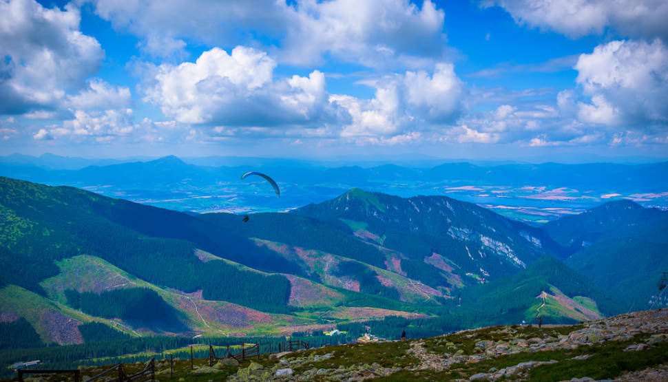 Paragliding in Chopok Mountains