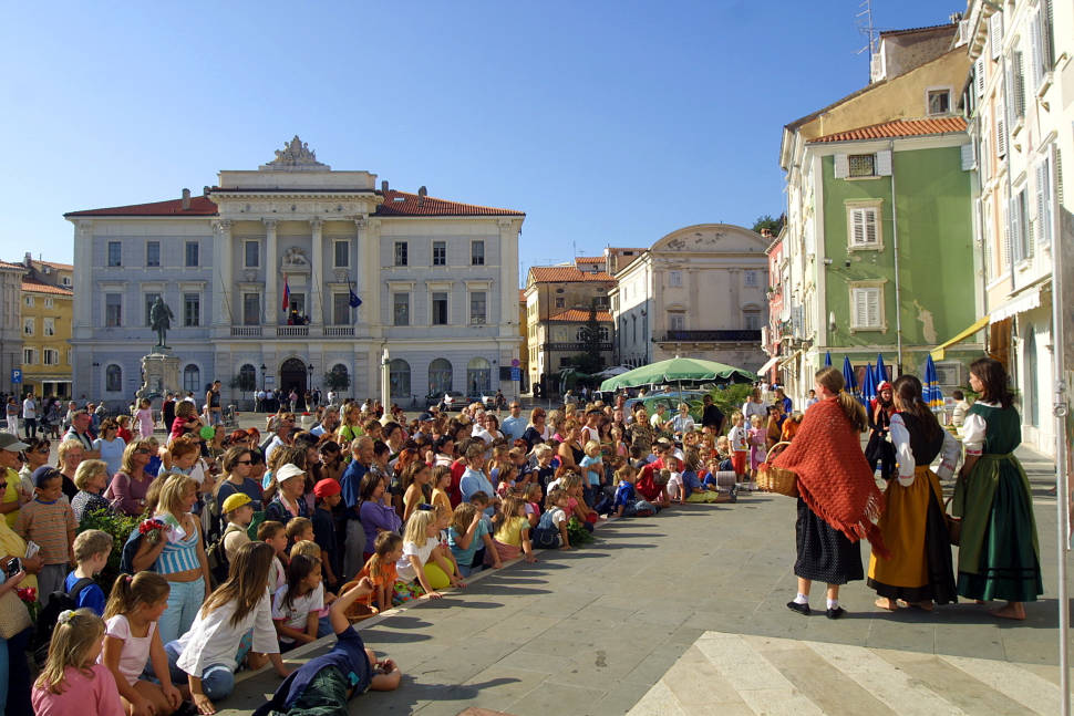 Saltworkers' Festival in St. George's Day, Piran