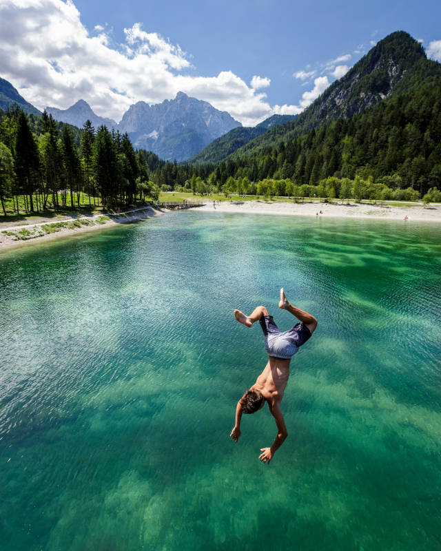 Best time for Swimming in Bled and Bohini Lakes in Slovenia