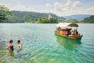 Swimming in Bled and Bohini Lakes