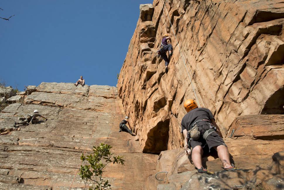 Rock climbing at Monteseel