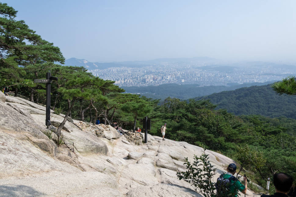 The view of Seoul from Bukhansan