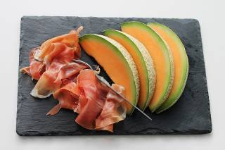 Spanish Ham (Jamón) with Melon