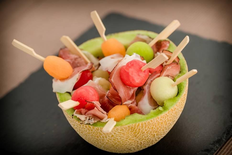 Spanish Ham (Jamón) with Melon in Spain - Best Season
