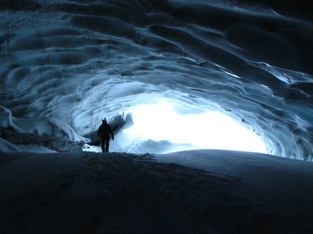 Best time to see Ice Caving in Svalbard