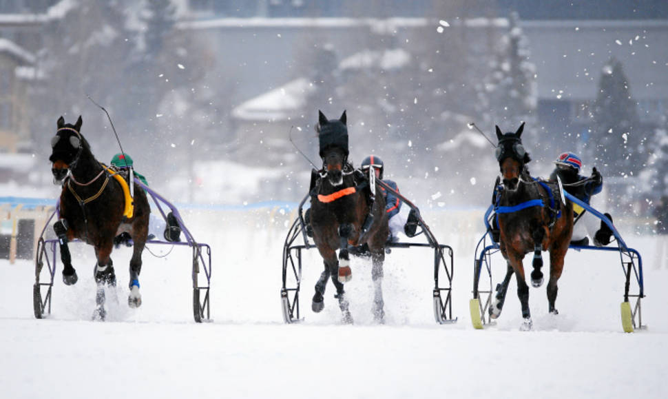 Best time to see White Turf St. Moritz in Switzerland