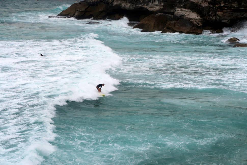 Surfing near Bronte Beach