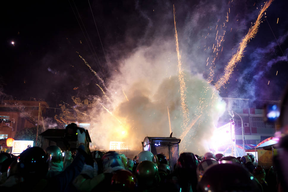 Best time for Yanshui Beehive Fireworks Festival in Taiwan