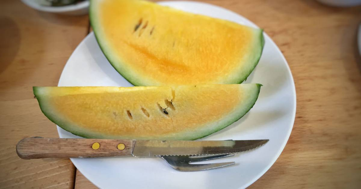 Yellow Watermelon in Taiwan - Best Time
