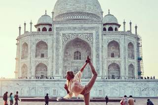 Yoga Classes Facing Taj Mahal