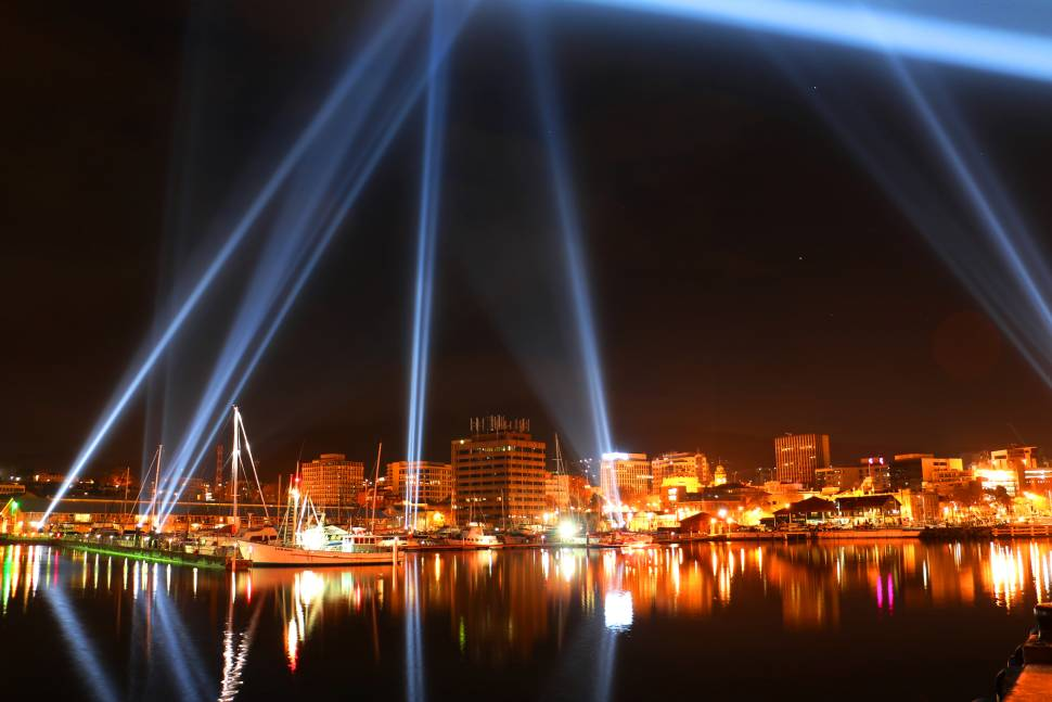 Part of the Dark MoFo Festival on the Hobart Waterfront
