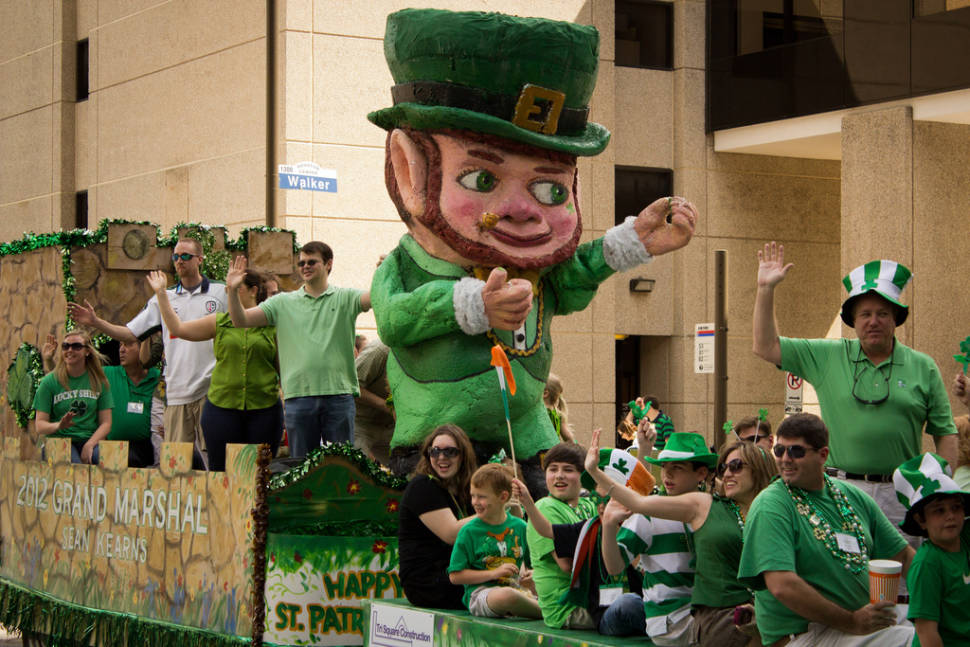 St Patricks Day parade, Downtown Houston
