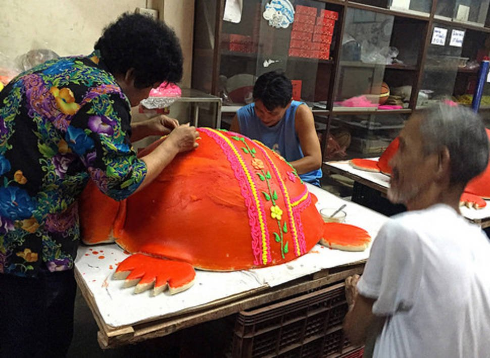 Red Turtle Sweet for Hungry Ghost in Thailand - Best Time