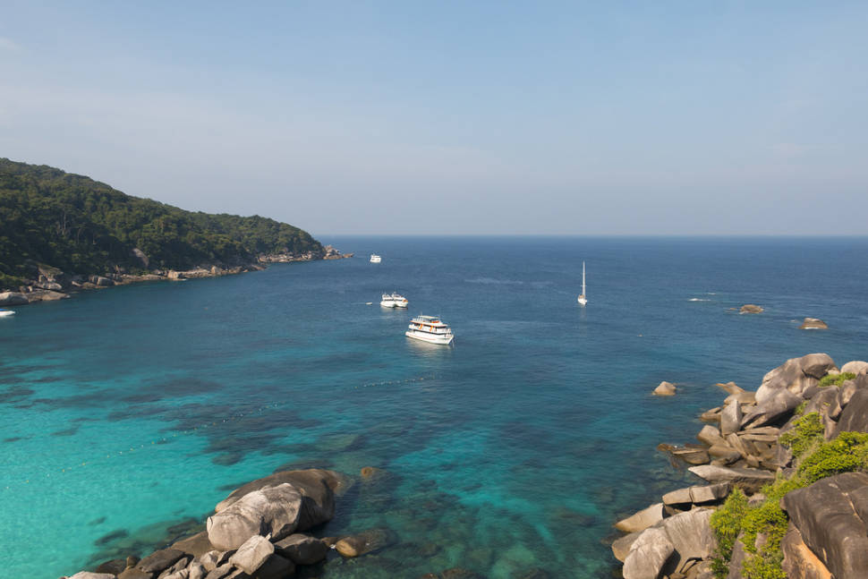Similan islands by yacht