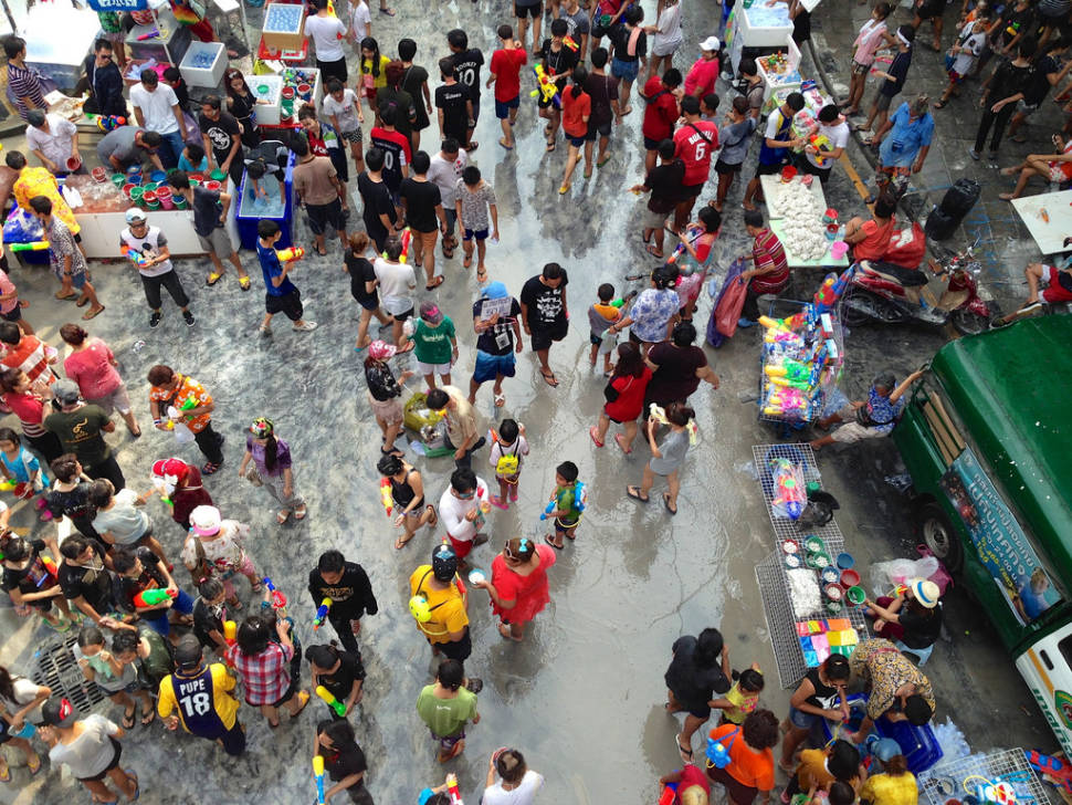 Best time for Songkran in Thailand