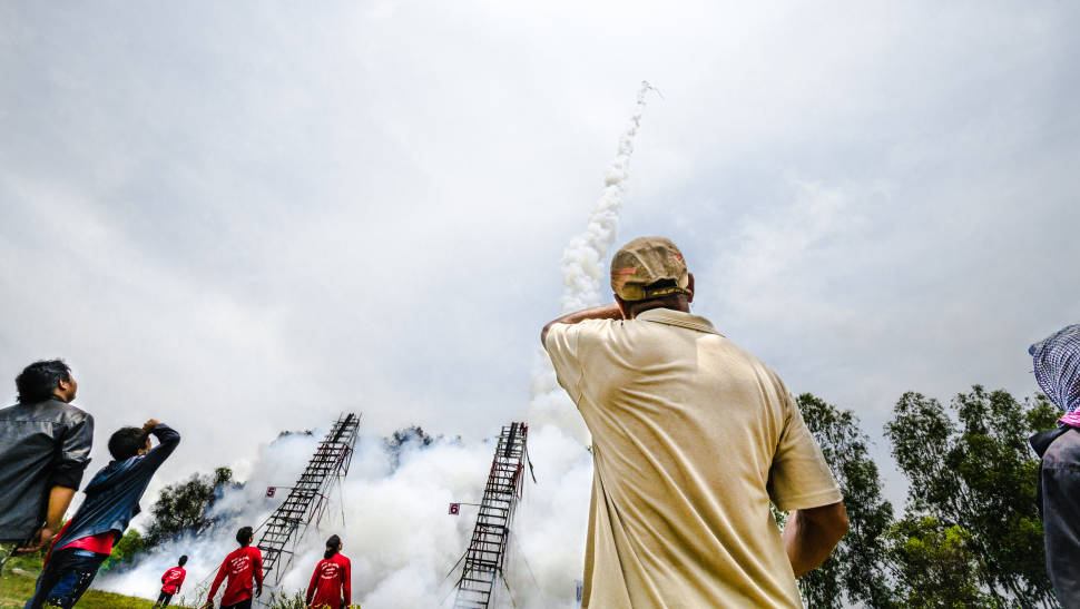 The rockets launched on final day of the festival