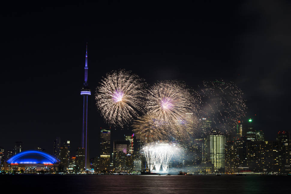 End the day by watching the spectacular Canada Day fireworks finale from Toronto Island