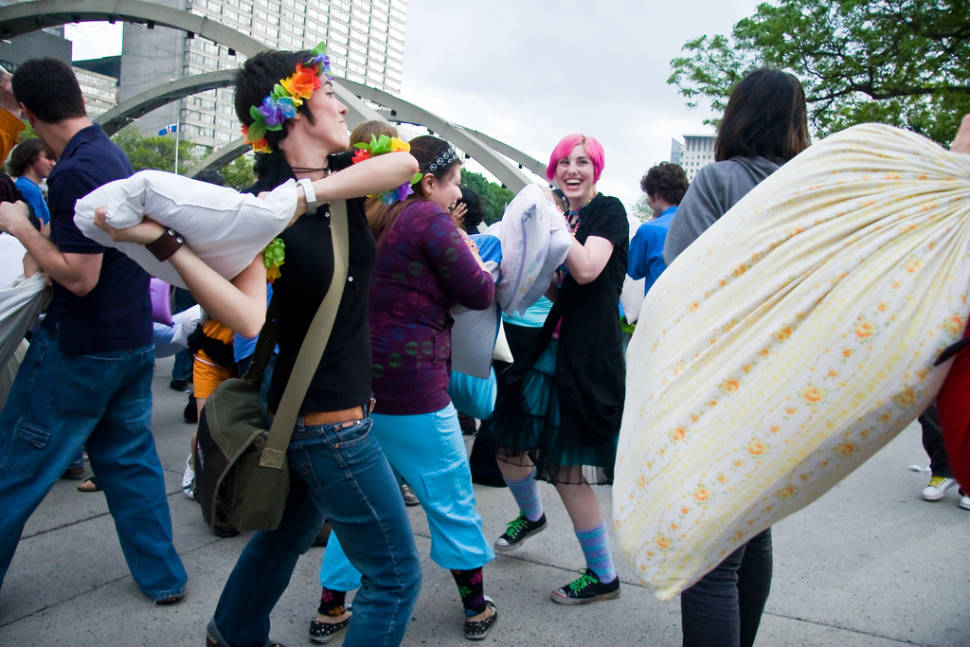 Best time to see Giant Pillow Fight in Toronto