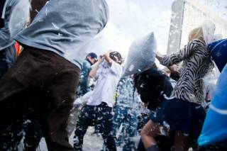 Giant Pillow Fight